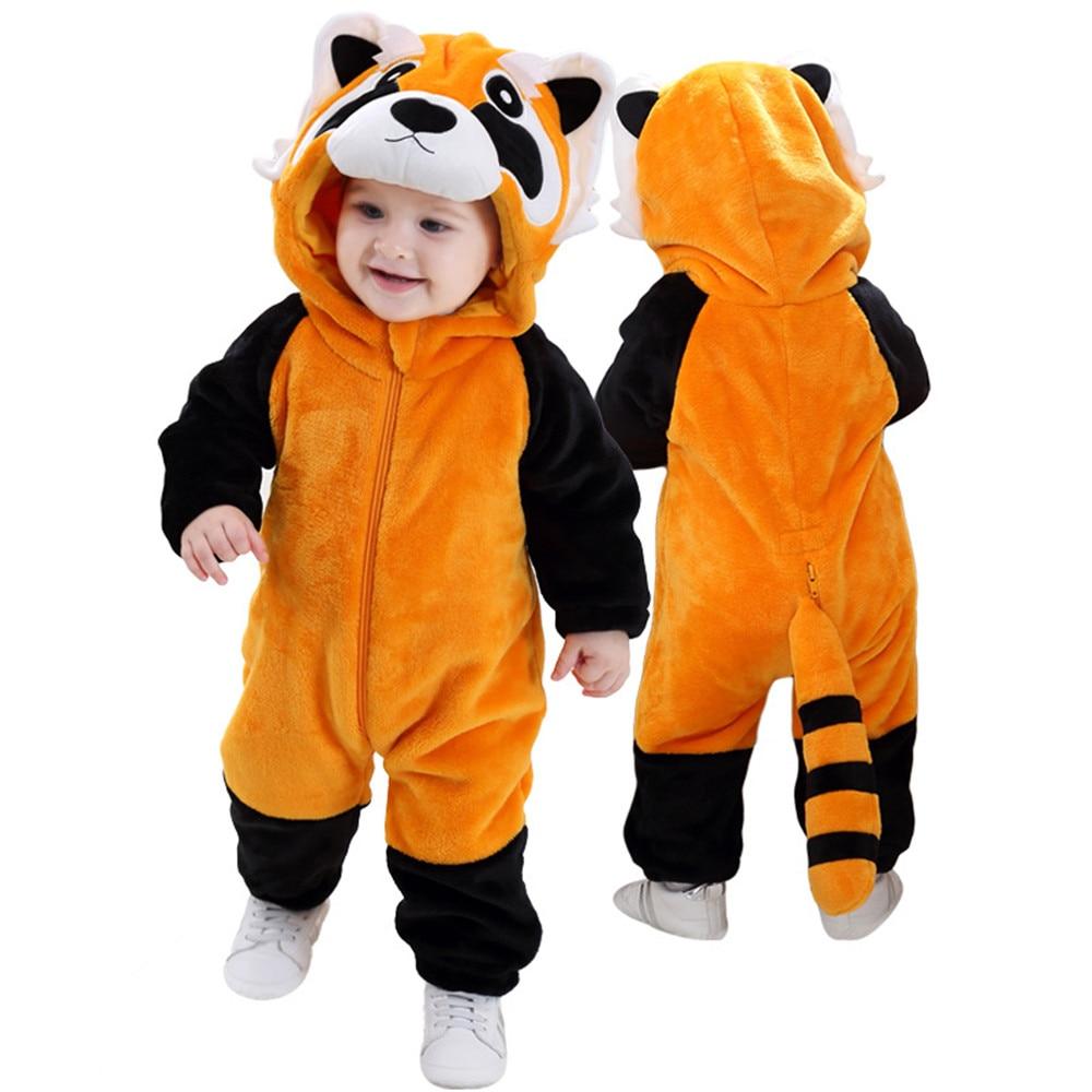 Baby Raccoon Infant Toddler Plush Fluffy Animal Halloween Costume