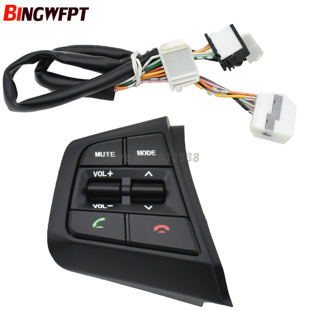 Image 5 - for Hyundai creta IX25 1.6L left Steering wheel button switch volume control button Bluetooth phone with wire and cable-in Car Switches & Relays from Automobiles & Motorcycles
