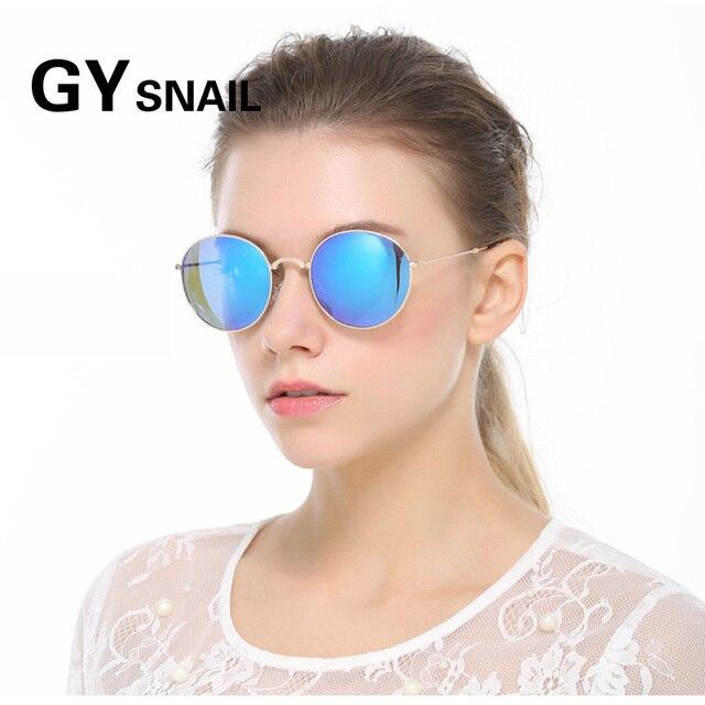 34836b20fbd GY snial Foldable Polarized sunglasses men women round vintage brand  designer mirror sun glasses for women retro oculos de sol