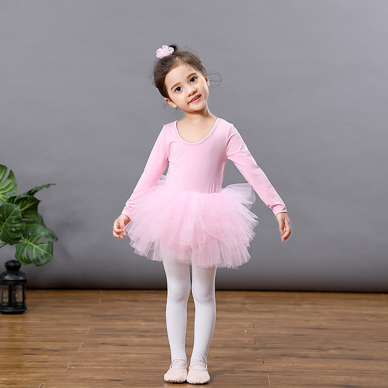 Kids Dress Dance-Costume Performance Long-Sleeve Party Baby-Girls Princess Ballet Tulle