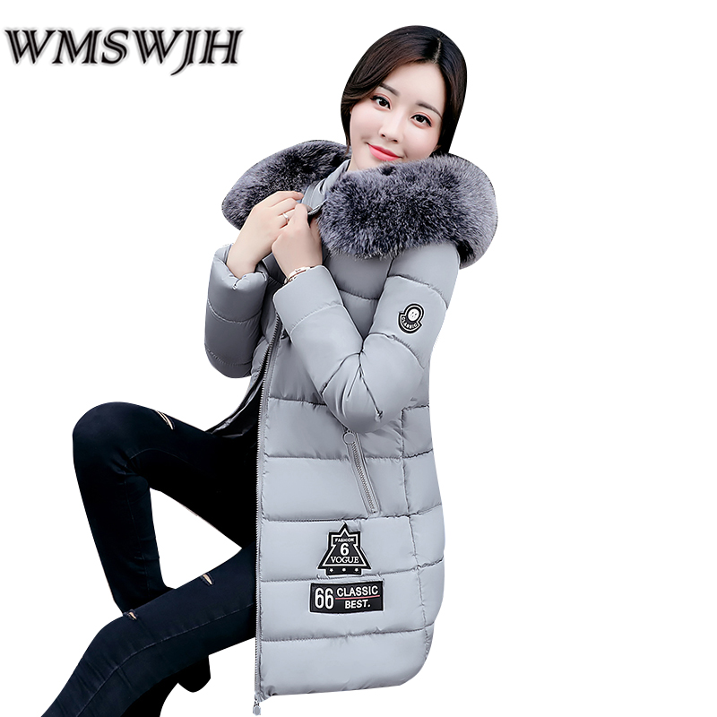 New Arrival Parkas Winter Warm Women Coat Hooded Fur Collar Outerwear Female Thick Wadded Jacket Spliced Casual Style Overcoat new arrival 2017 winter jackets women wadded coat female thick warm overcoat large fur collar hooded long parkas plus size ok445