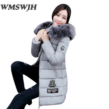 New Arrival Parkas Winter Warm Women Coat Hooded Fur Collar Outerwear Female Thick Wadded Jacket Spliced Casual Style Overcoat