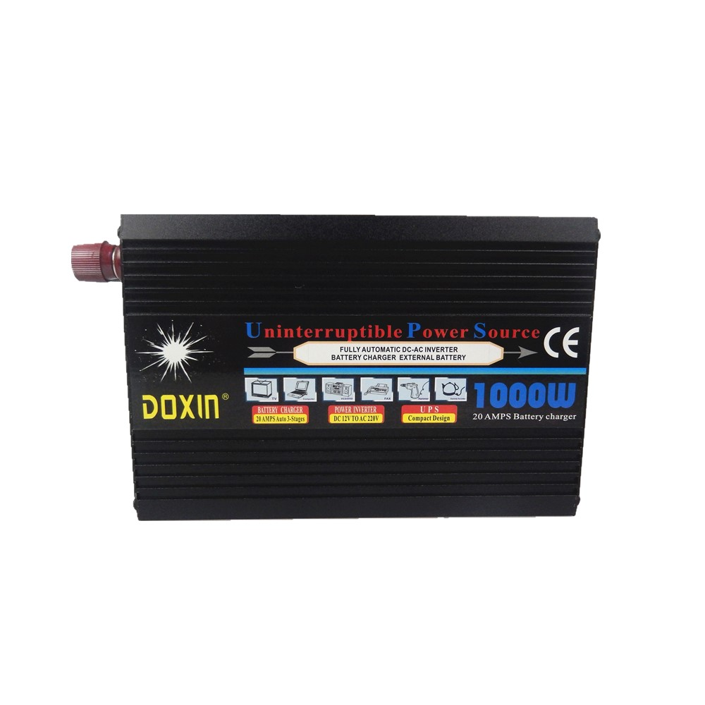цена на 1000W modified wave UPS inverter dc12v to ac 220v with ups battery charging function