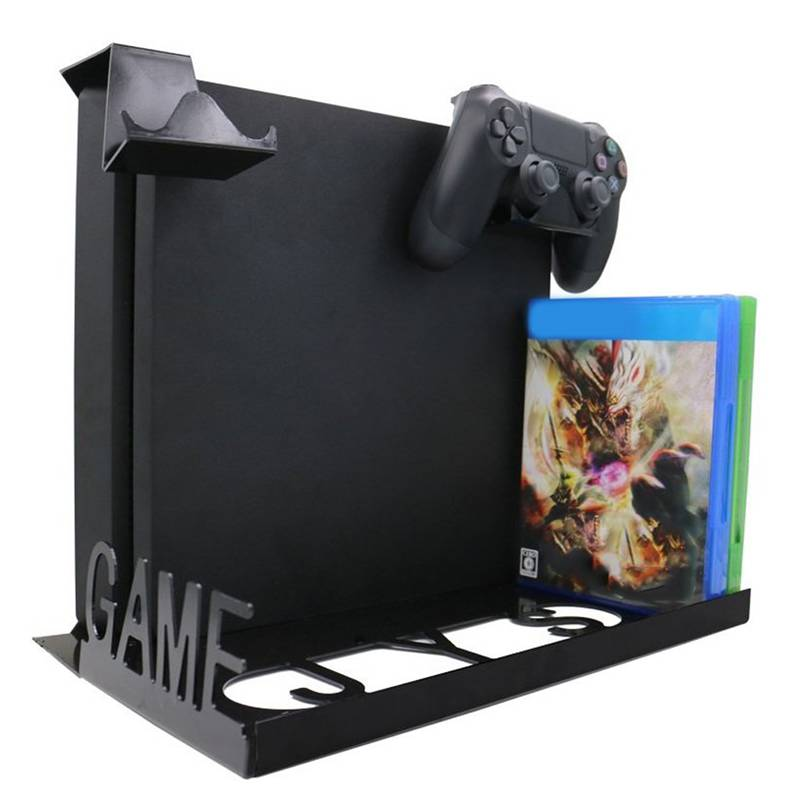 1Pcs Big Game Console Horizontal Wall Mount With Multicolor Led Light for PS4 Game Console Support Accessories High Quality