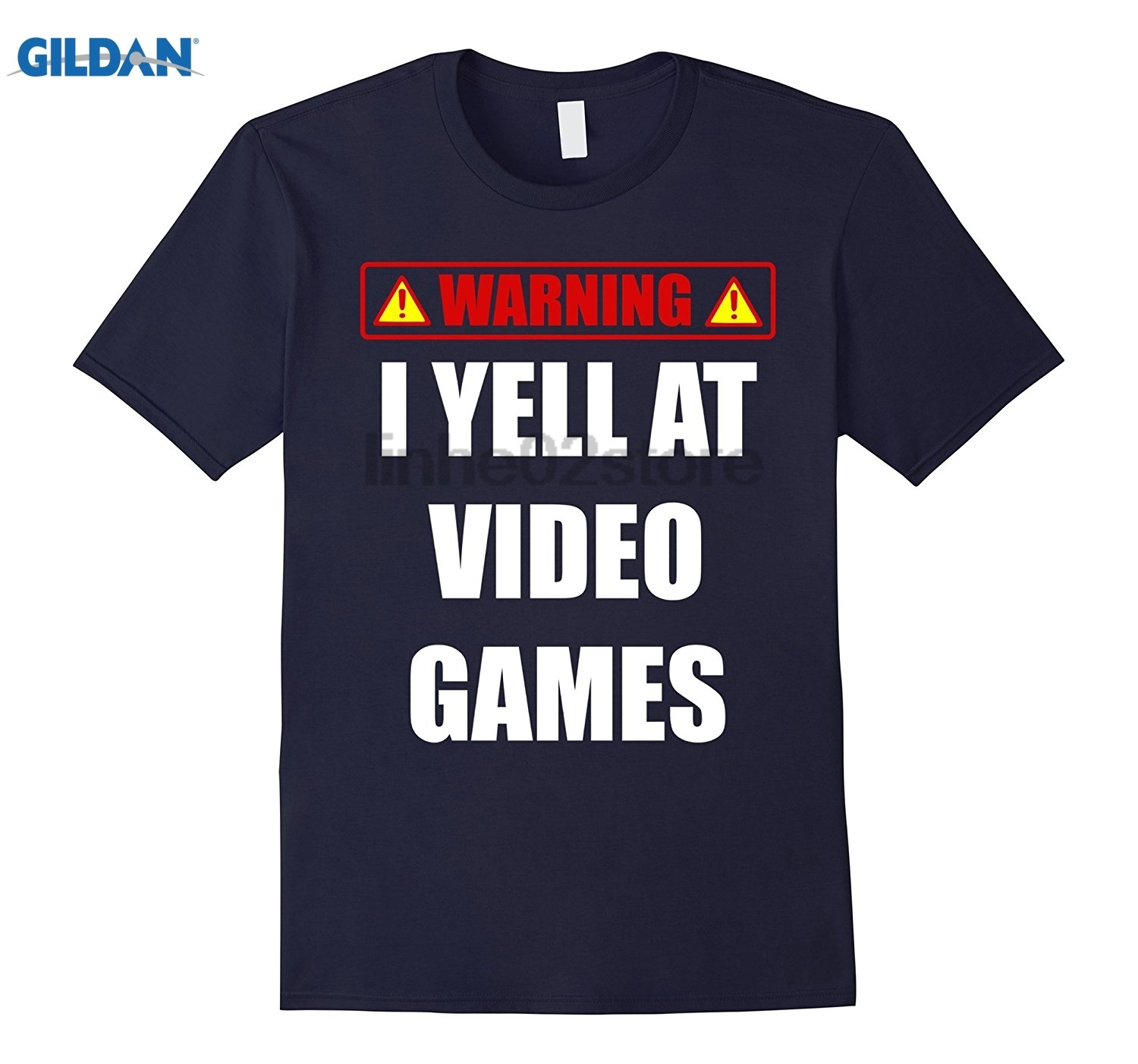 GILDAN Yell at Video Games Funny Angry Frustrated Gamer T Shirt Hot Womens T-shirt
