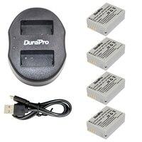 4 Pcs DuraPro NB 10L NB 10L NB10L Battery 1 Pcs USB Dual Charger For Canon