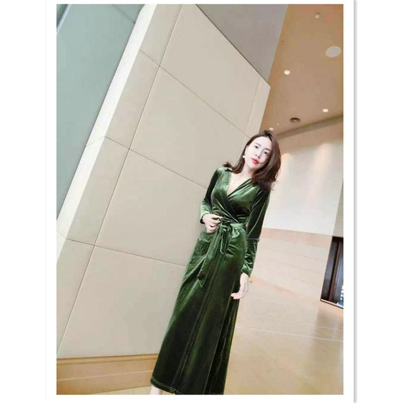 4ee25414a2cf5 WBCTW Elegant Sexy Long Sleeve Velvet Dressing Gowns for Women 6XL 7XL Plus  Size Women Autumn
