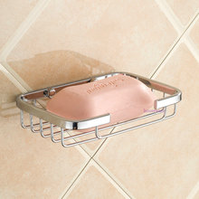 Stainless Steel Bathroom Shelf Bathroom Soap Dish Soap Box Dishes Net Bathroom Soap Holder  zx86