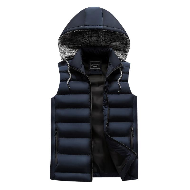 men\`s casual clothing fashion down jackets men leisure dress vests winter warm elegant korean streetwear trend coat vest for men (2)