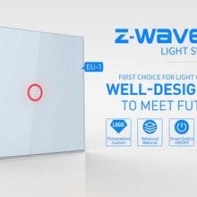 Yobangбезопасности Z-wave plus 1CH ЕС настенный выключатель света домашней автоматизации ZWave беспроводной умный приложение дистанционное управление выключатель света ВКЛ/ВЫКЛ