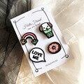 4 Unidades de Dibujos Animados Lindo Perro Cerdo Amor Me Rainbow Donuts Animal Broche Pin Accesorios de Ropa de Regalo de Navidad
