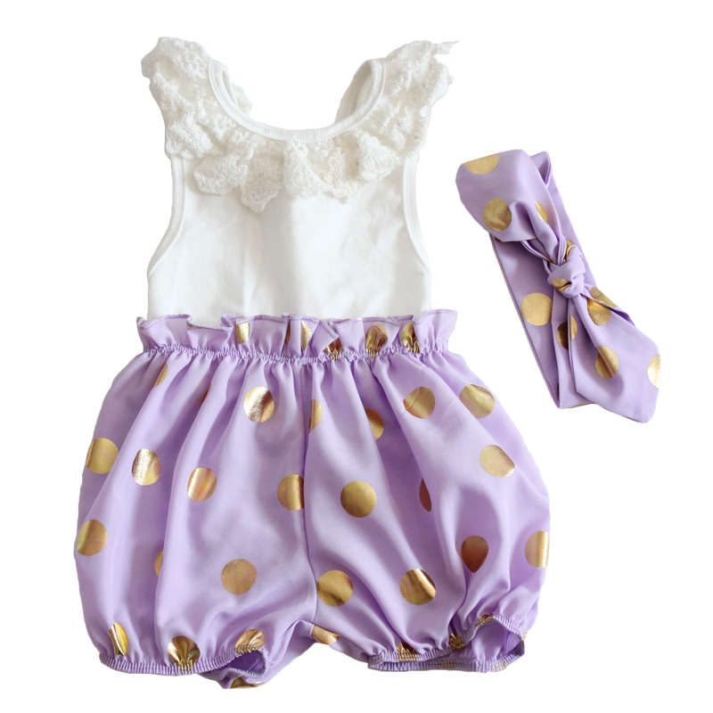 Cute new dots christmas/halloween toddler girl clothing newborn kids clothes cute ruffle baby rompers