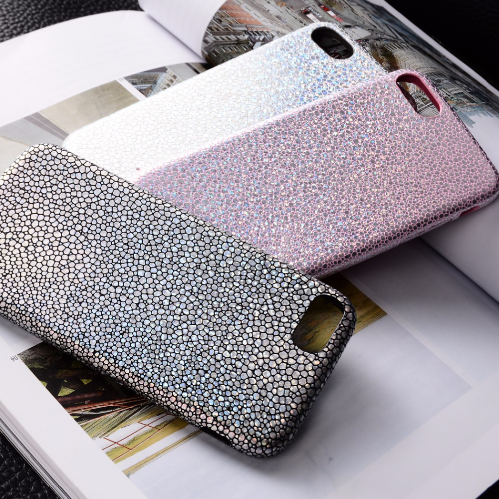 OLLIVAN For iPhone 7 Case Bling Shining Fish Scales Laser Colorful Soft Phone Cases For iPhone 6 6S 7 Plus TPU Back Cover