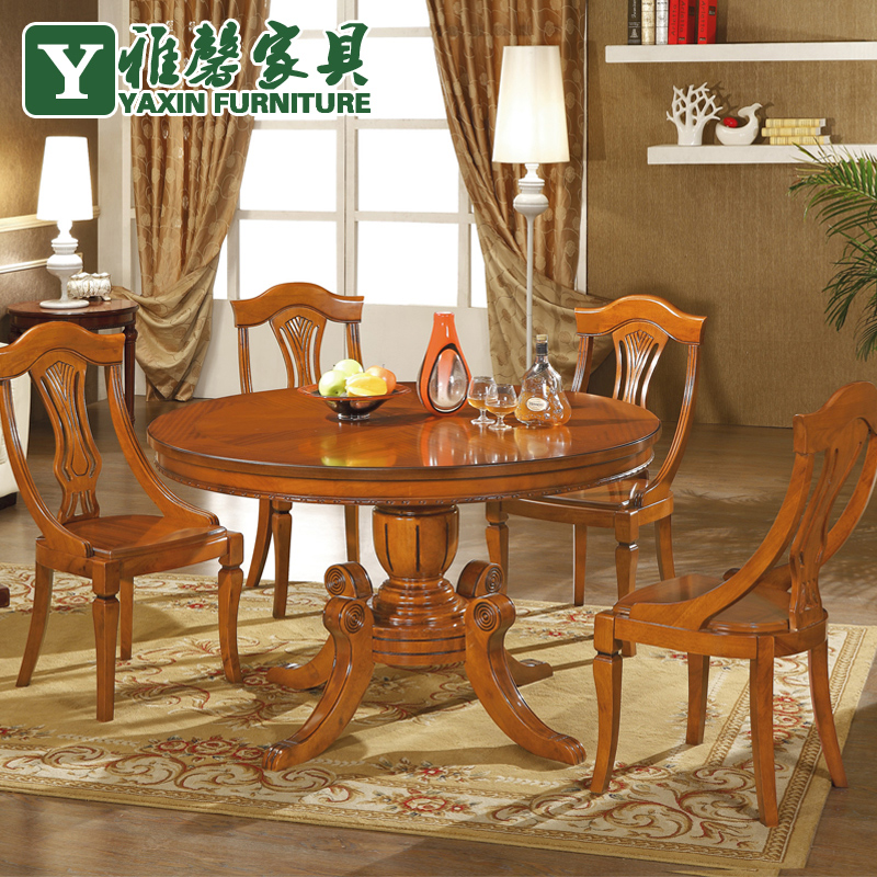 Oak Wood Table And Chairs: Ya Hing Wood Dining Table Oak Furniture Dinette