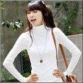 Pullovers New 2017 Women's Spring New Arrival Milk Velvet Turtleneck Long-sleeve Basic Shirt White Solid Sweater