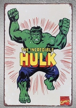 1 pc The Incredible Hulk Superhero marvel shop store Tin Plates Signs wall plaques Decoration Dropshipping Poster metal недорго, оригинальная цена