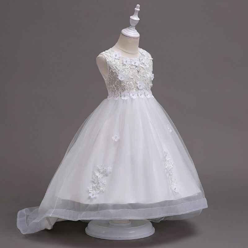 a8c5b14ec50 ... Kids dress Girl s wedding wear wine red handmade beads wedding dress  lace embroidered princess flower Valentine s