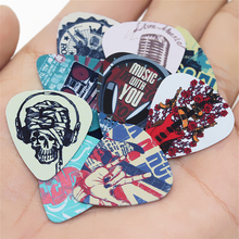 50pcs guitar picks 1 box case acoustic electric guitar accessories musical instrument thickness 0.71mm New Design 2S3-13