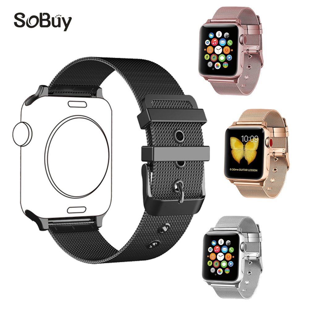 So buy for Apple Watch Series 3/2/1 stainless steel 38mm band 42mm strap Milanese Wrist belt Metal Bracelet for iwatch watchband so buy wrist bracelet 316l stainless steel bands for apple watch 42mm 38mm iwatch strap series 1 2 3 sport milan nice metal band