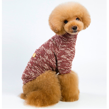 HELLOMOON New autumn and winter pet dog turtleneck sweater novelty wooden clothes two feet warm