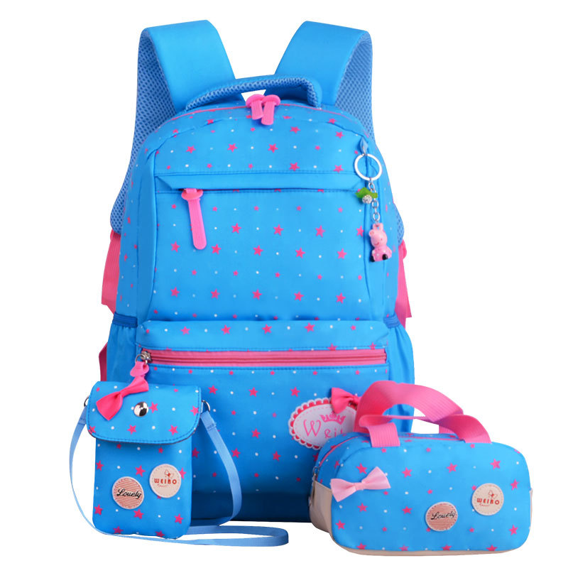 7f057bcee8 Aliexpress.com   Buy Children School Bags Teenagers Girls Printing Rucksack  school Backpacks 3pcs Set Mochila kids travel backpack Cute shoulder bag  from ...