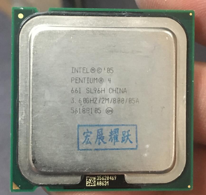 Intel Pentium 4 661 P4 661 3.6 3.6GHZ Dual-Core CPU LGA 775 100% working properly Desktop Processor P4 661 processor
