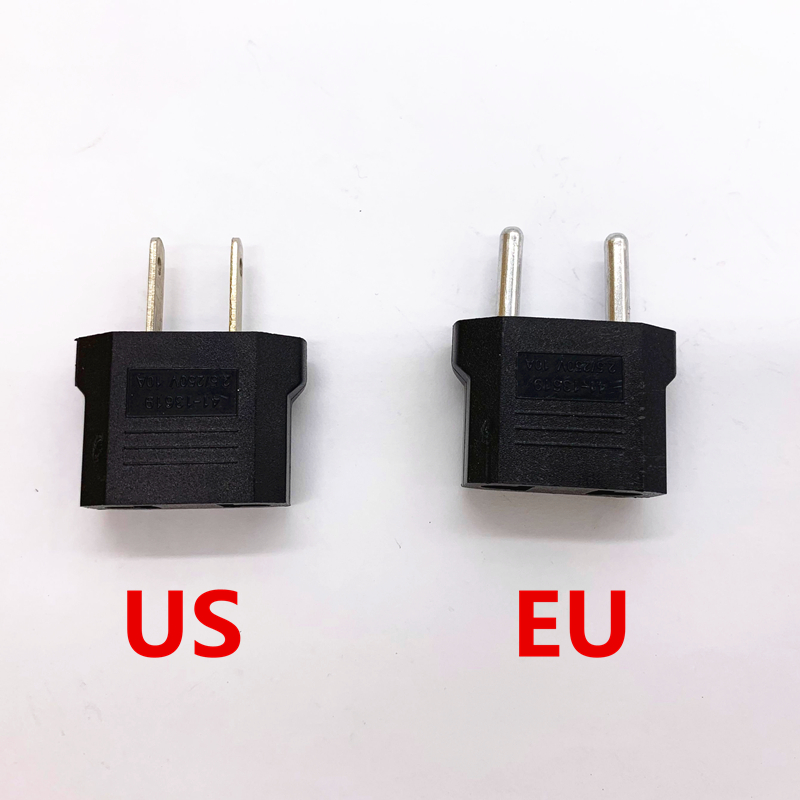 1PCS EUA Plug Adapter UE Americano Europeia Japão China EUA Para A UE Euro Travel Plug Power Adapter Converter Tomada tomada