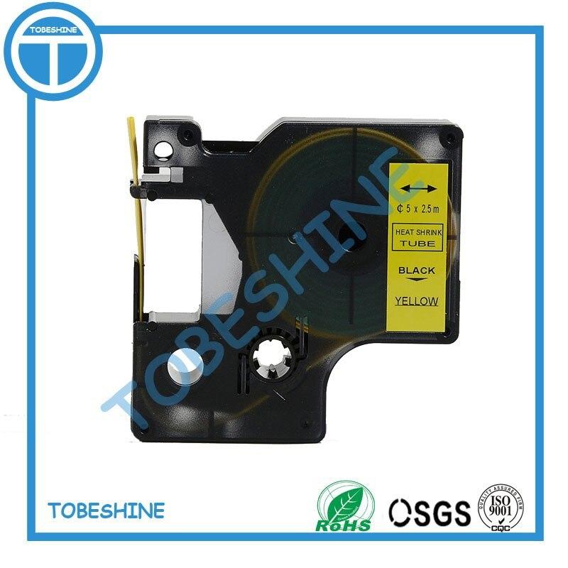 Livraison gratuite noir sur jaune DYMO Rhino thermorétractable Tube bande RS5Y RS7Y RS11Y pour imprimante dymo