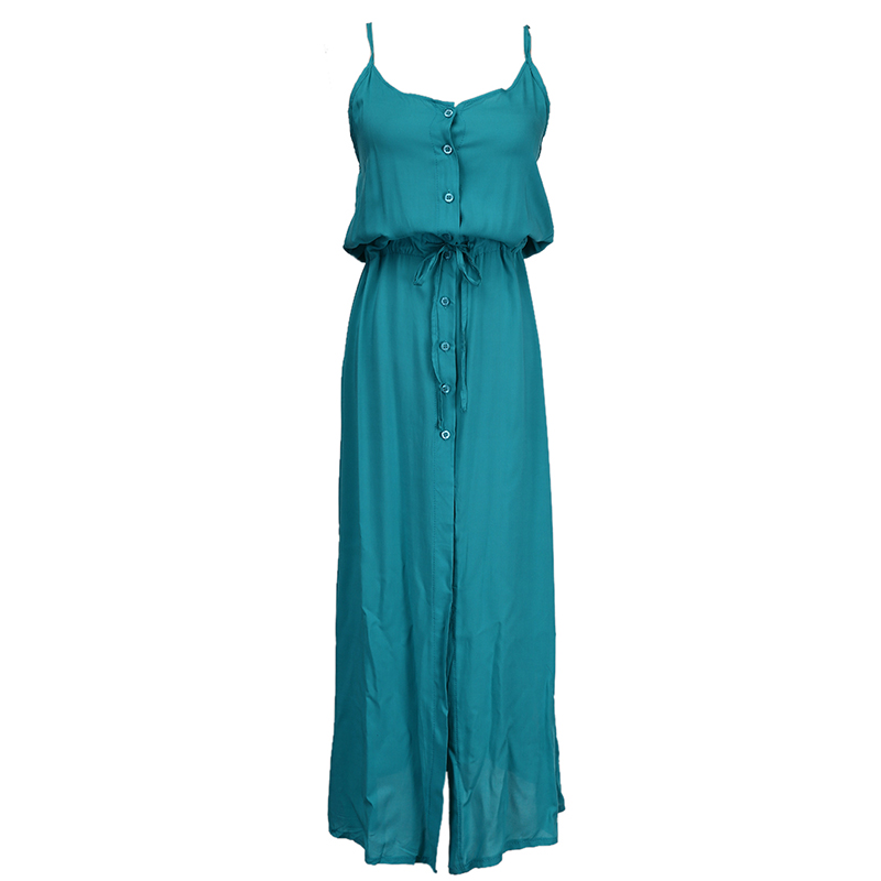 Green Strap Long Loose Dress <font><b>2018</b></font> New <font><b>Sexy</b></font> <font><b>Women</b></font> Summer Chiffon Long <font><b>Maxi</b></font> <font><b>BOHO</b></font> Sashes Bow Tie Evening Party Sundress image