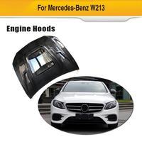 Carbon Fiber For Benz W213 E250 E350 E43 E63 AMG 2016 2017 2018 Auto Engine Hood Cover