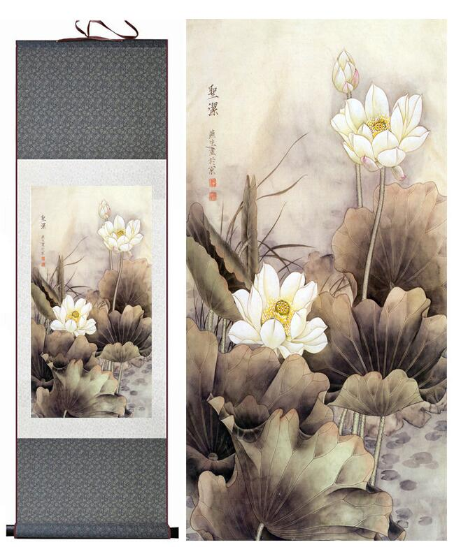 birds and flower painting home office decoration chinese scroll