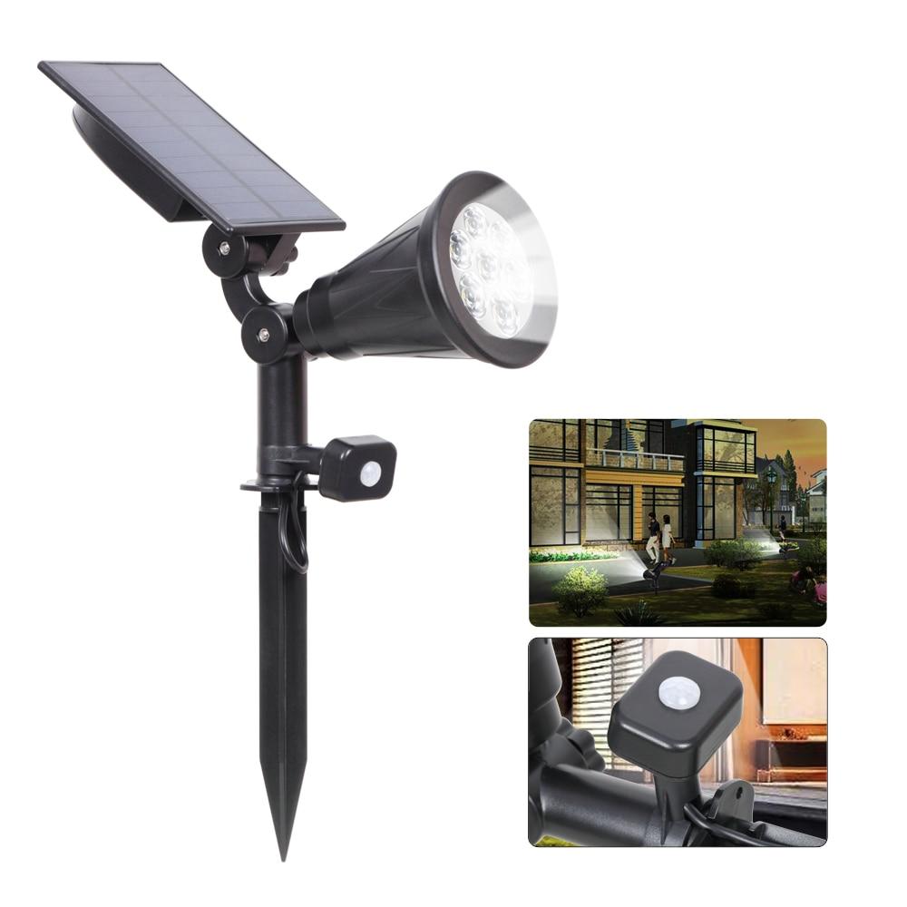 T-SUN Solar Spotlight 7 Led PIR Motion Sensor Outdoor Wall Light IP65 Waterproof Adjustable Solar Lights For Tree Yard Garden