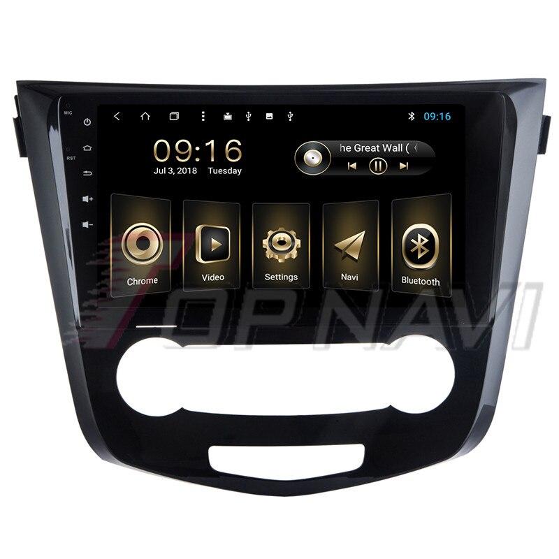 Auto Media für Nissan Qashqai 2016 10,1 ''Android 8.1 Topnavi Auto GPS Navigation mit Optional OBDII DVR Reverse Kamera Spieler