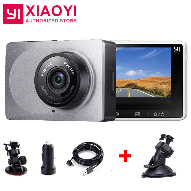 "[International Edition] Xiaoyi YI Smart Dash Camera CarDVR 2.7"" 165 Degree 1080P ADAS Xiaoyi YI Smart WiFi Action DashCamera"