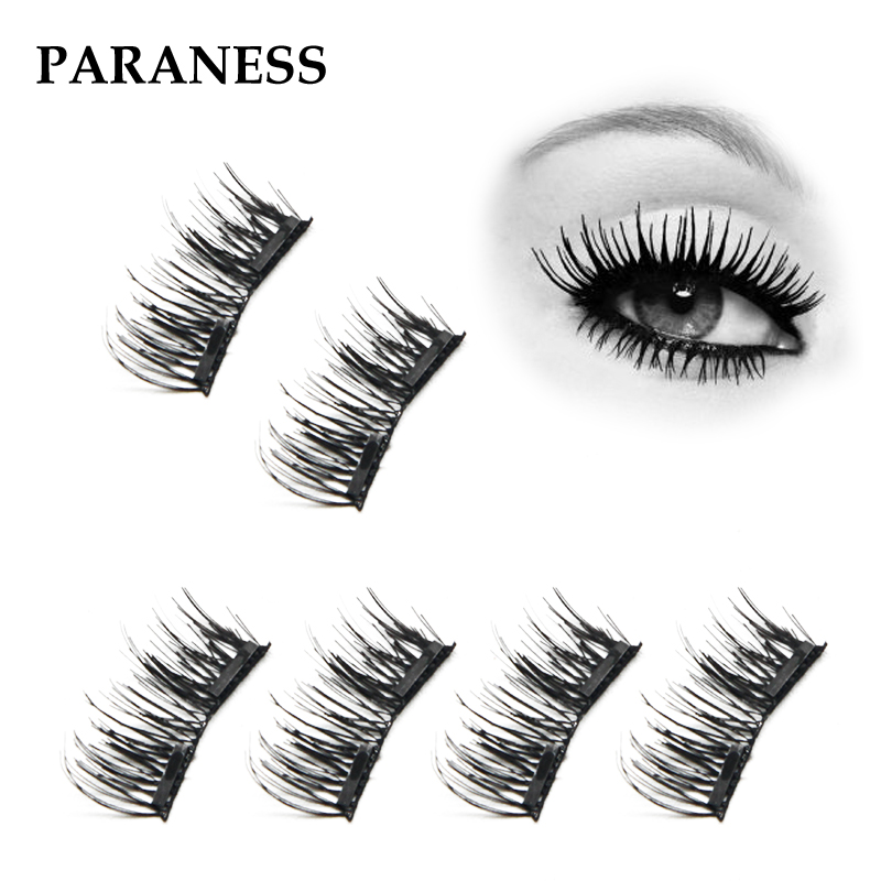 4Pcs/Pair 2 Magnetic Eyelashes Maquiagem False Lashes Magnetic Eye Lashes False Eyelashes eye lashes extentions boite faux cils