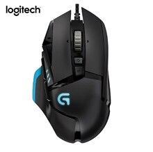 Logitech Gaming Mouse PC Gamer G502 RGB 12000 DPI 11 Botones Programables de Peso Personalizado