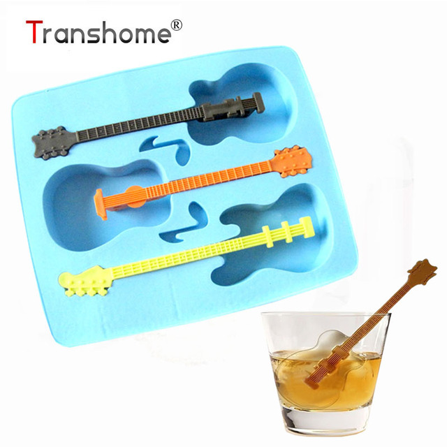 Transhome Guitar Shape Ice Cream Maker Creative Ice Mold Guitar Novelty  Gifts Ice Cube Tray Drinking