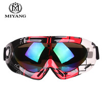Adult Children S Colorful Skiing Goggles Single Layer Professional Snow Goggles Off Road Motorcycle Mirror Outdoor