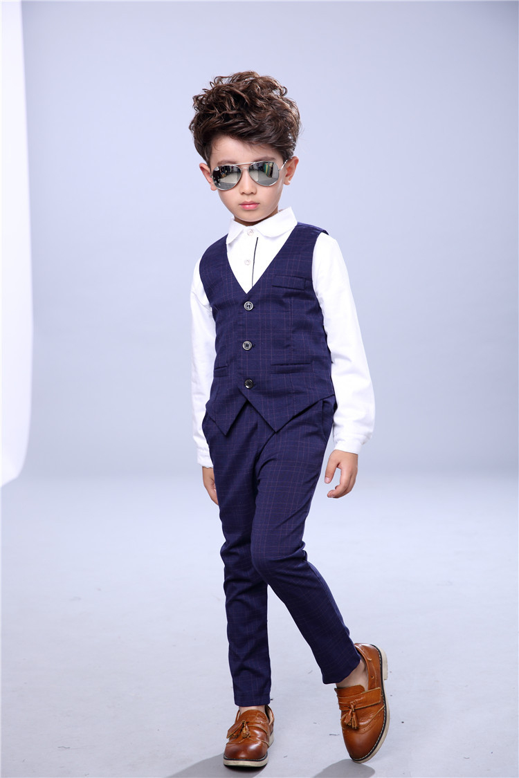 Boys Clothing Sets Kids Clothes Long Sleeve Dress Shirt Pant