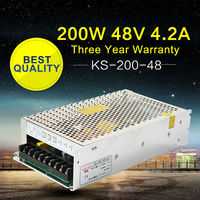 48V 200W Regulated Switching Power Supply Transformer 110V 220V to 48V AC DC Variable Power Supply for LED Light Monitor