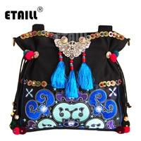 National Ethnic Style Should Bag Embroidery Bohemia Design Tassel Handbag Bohemian Beads Fabric Messenger Bag Sac