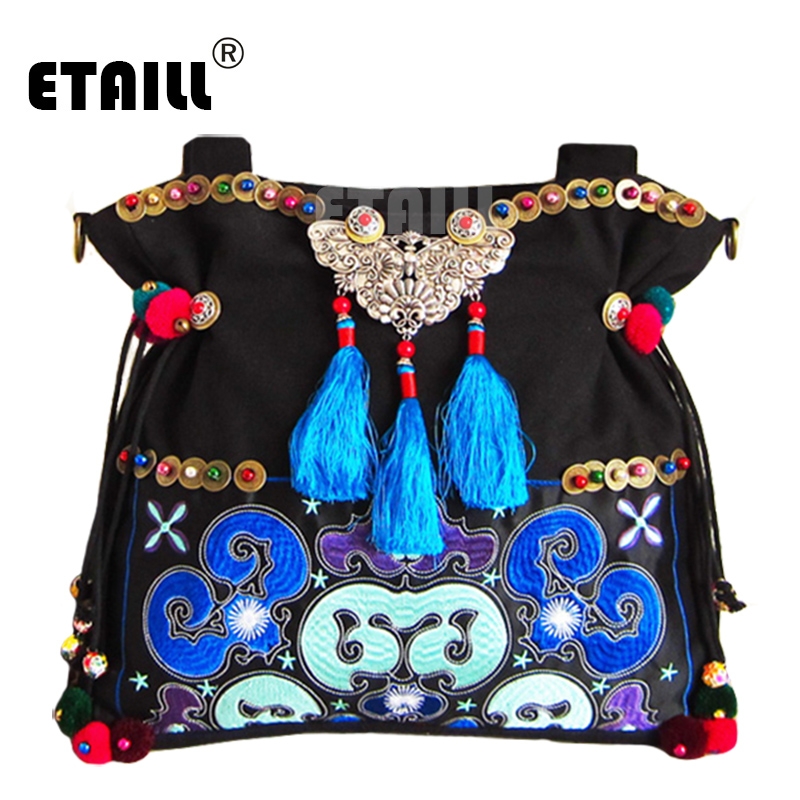 National Ethnic Style Should Bag Embroidery Bohemia Design Tassel Handbag Bohemian Beads Fabric Messenger Bag Sac A Dos Femme 2016 summer national ethnic style embroidery bohemia design tassel beads lady s handbag meessenger bohemian shoulder bag