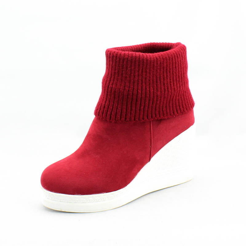 944404f50b4 Women Platform Wedges Ankle Boots Fashion Round Toe Slip-on Winter Boots  Ladies Casual High Heels Winter Shoes Size 34-43 Boots