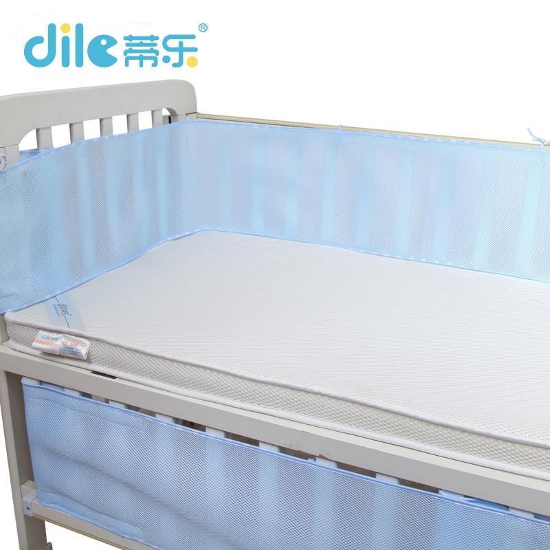 Dele Baby Bed Bumpers Baby Crib Bumper Summer Breathable Kid Bedding Set infant Bedding Set 3d