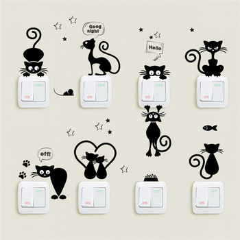 Lovely Cat Light Switch Phone Wall Stickers For Kids Rooms Diy Home Decoration Cartoon Animals Wall Decals Pvc Mural Art Lovely Cat Light Switch Phone Wall Stickers For Kids Rooms Lovely Cat Light Switch Phone Wall Stickers For Kids Rooms HTB106rNcTfN8KJjSZFjq6xGvpXaQ