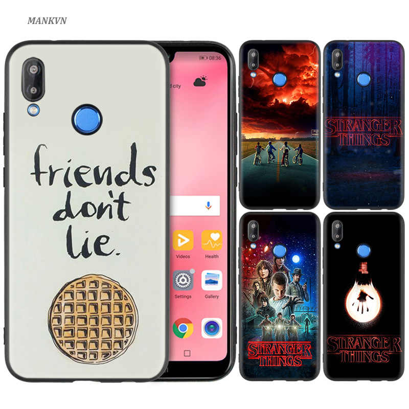 Silicone Case Cover for Huawei P20 P10 P9 P8 Lite Pro 2017 P Smart+ 2019 Nova 3i 3E Phone Cases stranger things poster