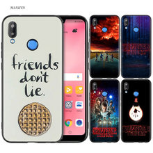 Silicone Case Cover for Huawei P20 P10 P9 P8 Lite Pro 2017 P Smart+ 2019 Nova 3i 3E Phone Cases stranger things poster(China)