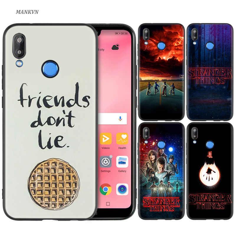 Silicone Case Cover for Huawei P20 P10 P9 P8 Lite Pro 2017 P Smart+ 2019 Nova 3i 3E Phone Cases stranger things poster