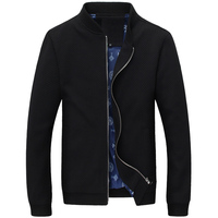 2017 Spring and Autumn new men, men's fashion height quality collar casual knit jacket Men, New Large size men jacket coat