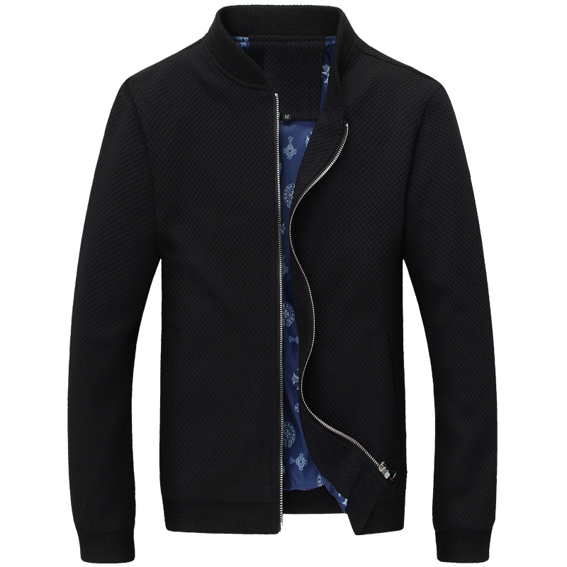 2019 Spring And Autumn New Men, Men's Fashion Height Quality Collar Casual Knit Jacket Men, New Large Size Men Jacket  Coat